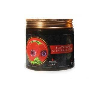 Марокканское мыло Бельди (гранат и цветок мака) 200 г
